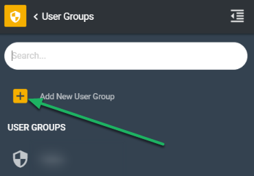 Adding a New User Group.