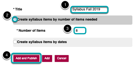 Enter Syllabus information.