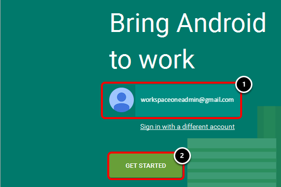 Provide Google Admin Account
