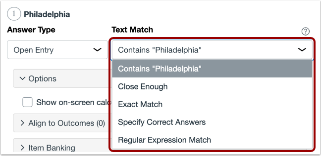 Select Text Match