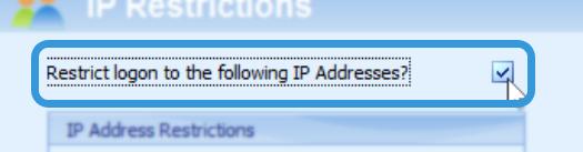 Enabling IP Restrictions