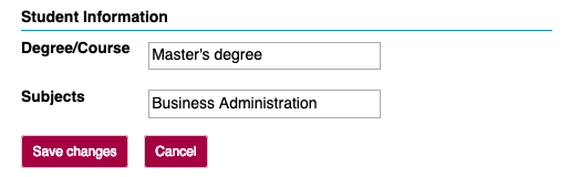 Student Information.