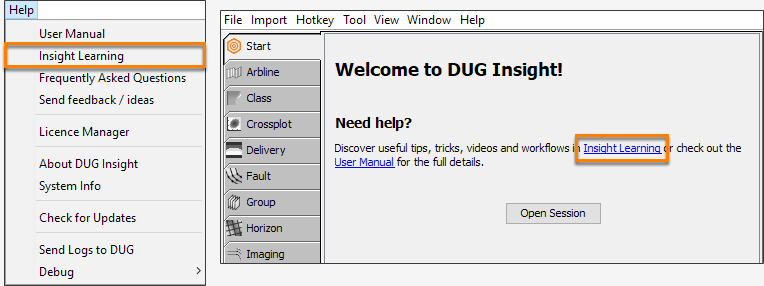 Open DUG tutorial videos website