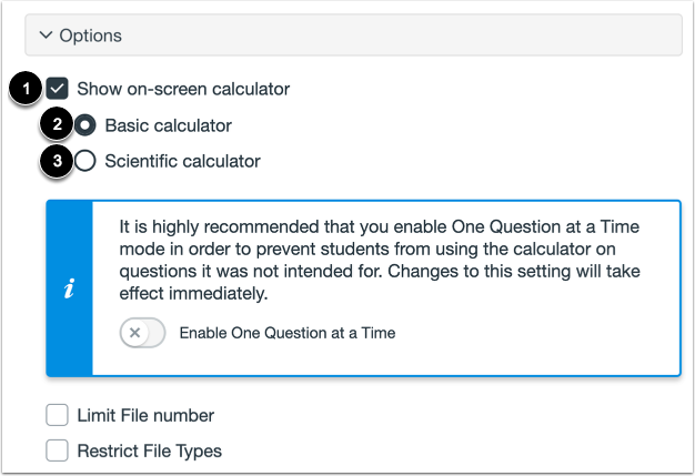 Enable On-Screen Calculator