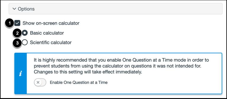 Enable On-Screen Calculator