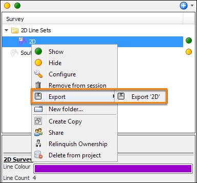 Export 2D line sets