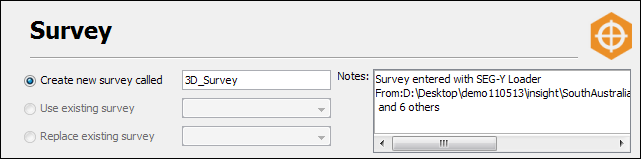 Define a survey file