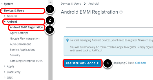 Managing Android devices with Android EMM