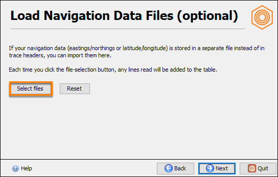 Select navigation file