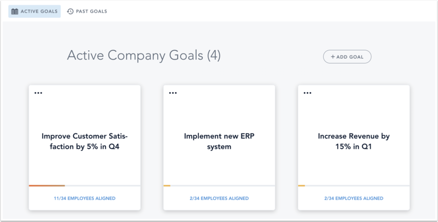 View Company Goals Page