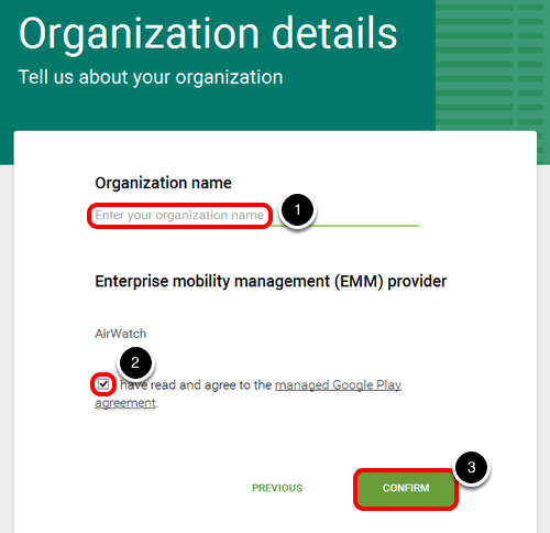 Provide your Organization Details