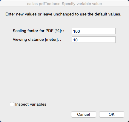 "The ""Ask at runtime"" in pdfToolbox Desktop"