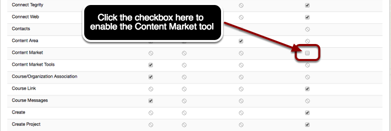 Step 2 - Enable the Content Market Tool.