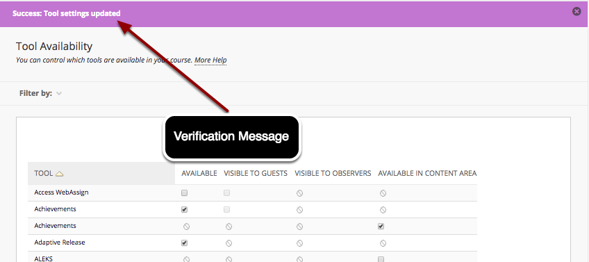 Step 3 - Verification of the Content Market Tool Availability