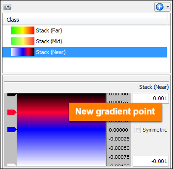 Add gradient points in colourbar
