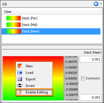 Enable editing of colourbar