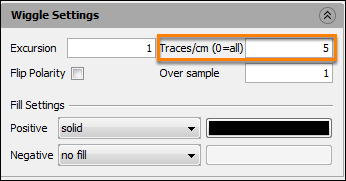 Type the number of traces displayed per centimeter