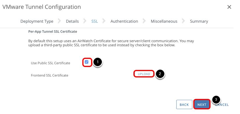 Configure Tunnel SSL Certificate