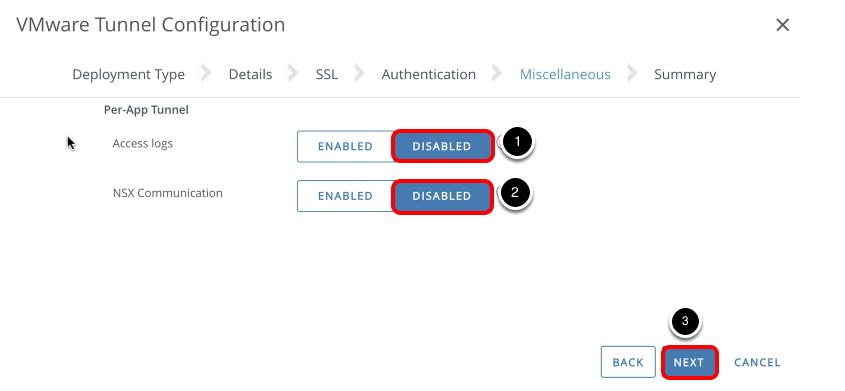 VMware Tunnel Configuration - Miscellaneous