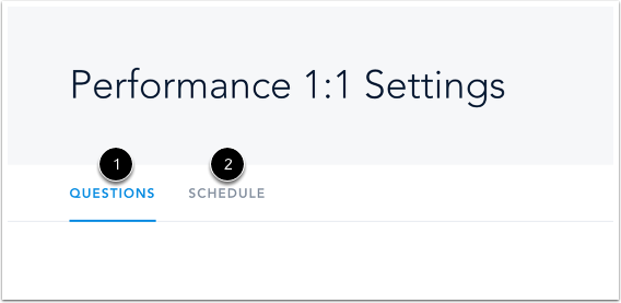 View Performance Conversation Settings
