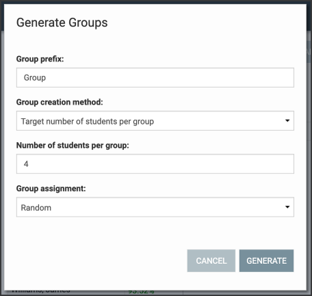 Generate groups