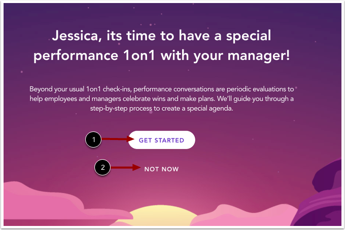 View Performance Conversation Message