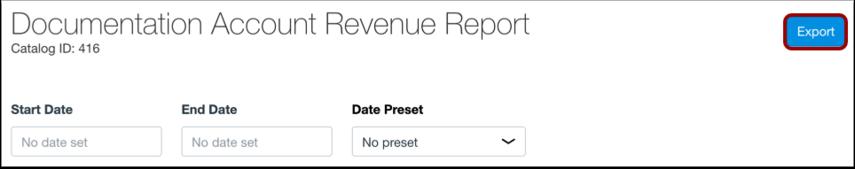 Export Catalog Report