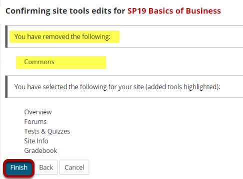 Removed tools list