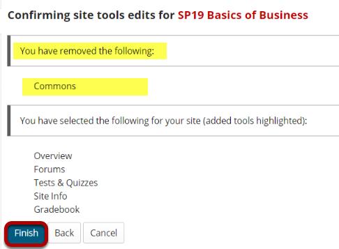Removed tools list