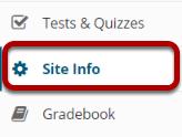 Image - Site Info tool in menu