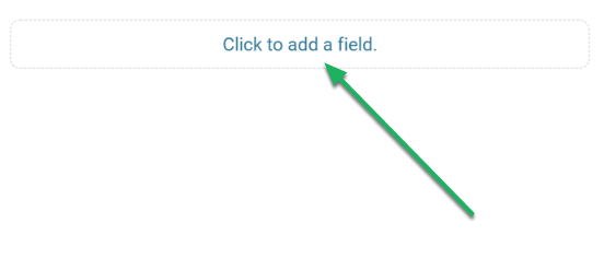 Click the 'Add New' bubble to add a field.