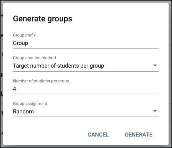 Generate groups