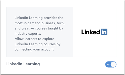 Manage LinkedIn Learning
