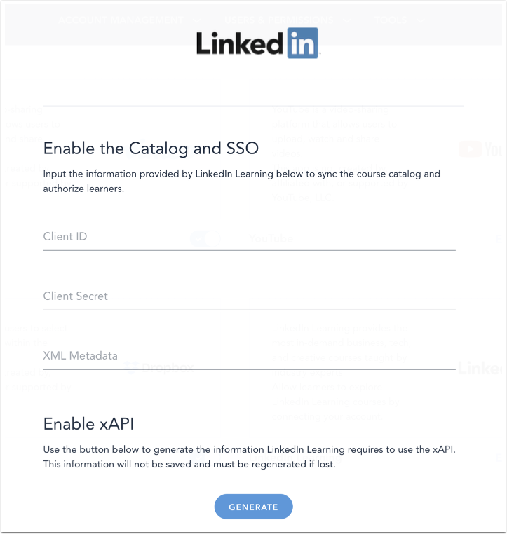 Enable LinkedIn Learning