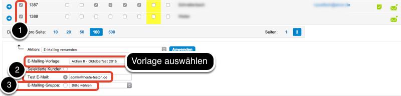 A) E-Mailings versenden - ohne Verlinkungen auf Fahrzeuge