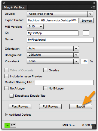Export your document.
