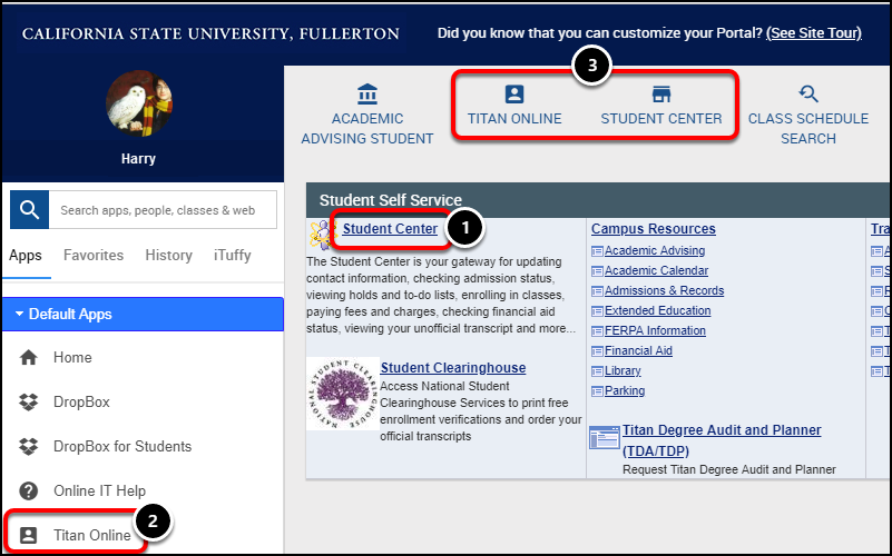 Portal homepage