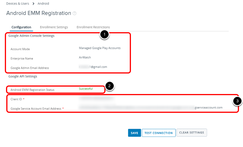 Confirm Android EMM registration to manage Android devices
