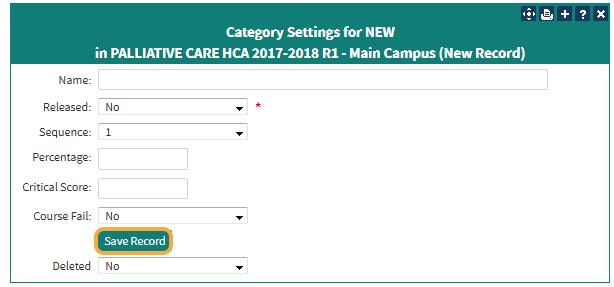 Category Settings Screen