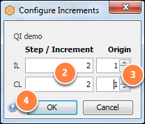 Configure IL/CL increments for a horizon