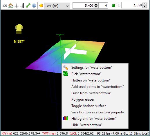 Horizon context menu in 3D View