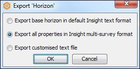 Multi-survey horizon export