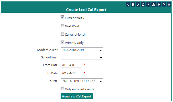 iCal_Export