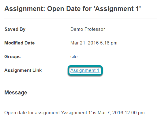 Or, select the direct link to the assignment from Announcements.