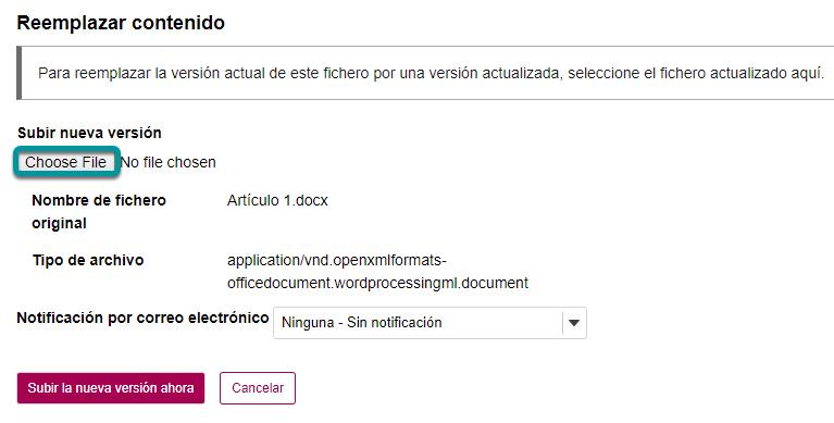 Dé clic en Elija el Archivo (Choose File).