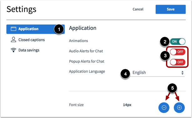 Manage Application Settings