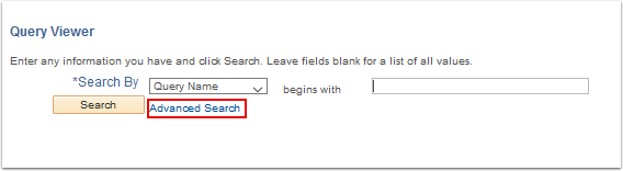 Query Viewer Basic Search page