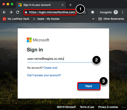 Navigate to Microsoft 365 website