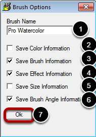 Brush Options Dialog