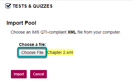 Selct Choose File.